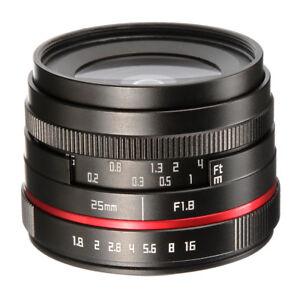 25mm f/1.8 Prime Lens Manual Focus MF For Sony Mirrorless Camera E  A6000 NEX A7 614993415163