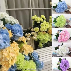 6 Kopfe Kunstliche Hortensie Blumen Kunstblumen Hochzeit Brautstrauss