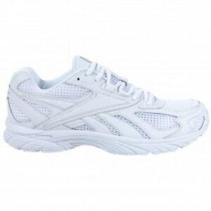 reebok mens pheehan run casual running shoes all white size 8