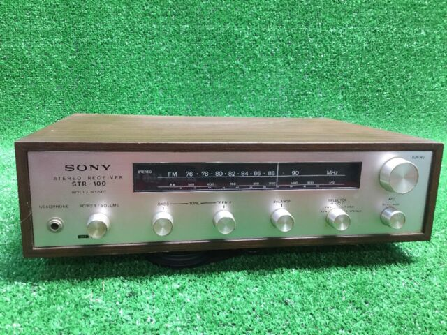 Rare Vtg SONY STR-100 Stereo FM AM receiver Solid State PLEASE READ Desc 4 Parts