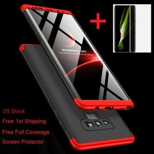 For Samsung Galaxy Note 9/8/S9/S8/S7/Plus/Shockproof 360° Case+Screen Protector