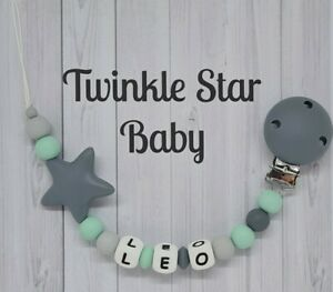 Full-Silicone-Gamme-Personnalise-mannequin-chaine-avec-Silicone-Clip-bebe-gris-Star