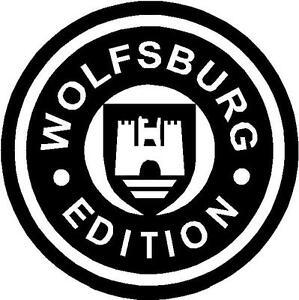 Vw Volkswagen Wolfsburg Edition Logo Cut Vinyl Window Bumper Sticker
