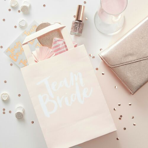 Pink Team Bride Hen Party Gift Bags x5