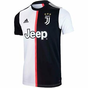 Details about adidas Juventus FC 2019 - 2020 Home Soccer Jersey New Black / White Kids - Youth