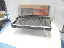 Vintage Metal Barbecue Grill Structo Foldaway Picnic Grill 2502 Porch Decor