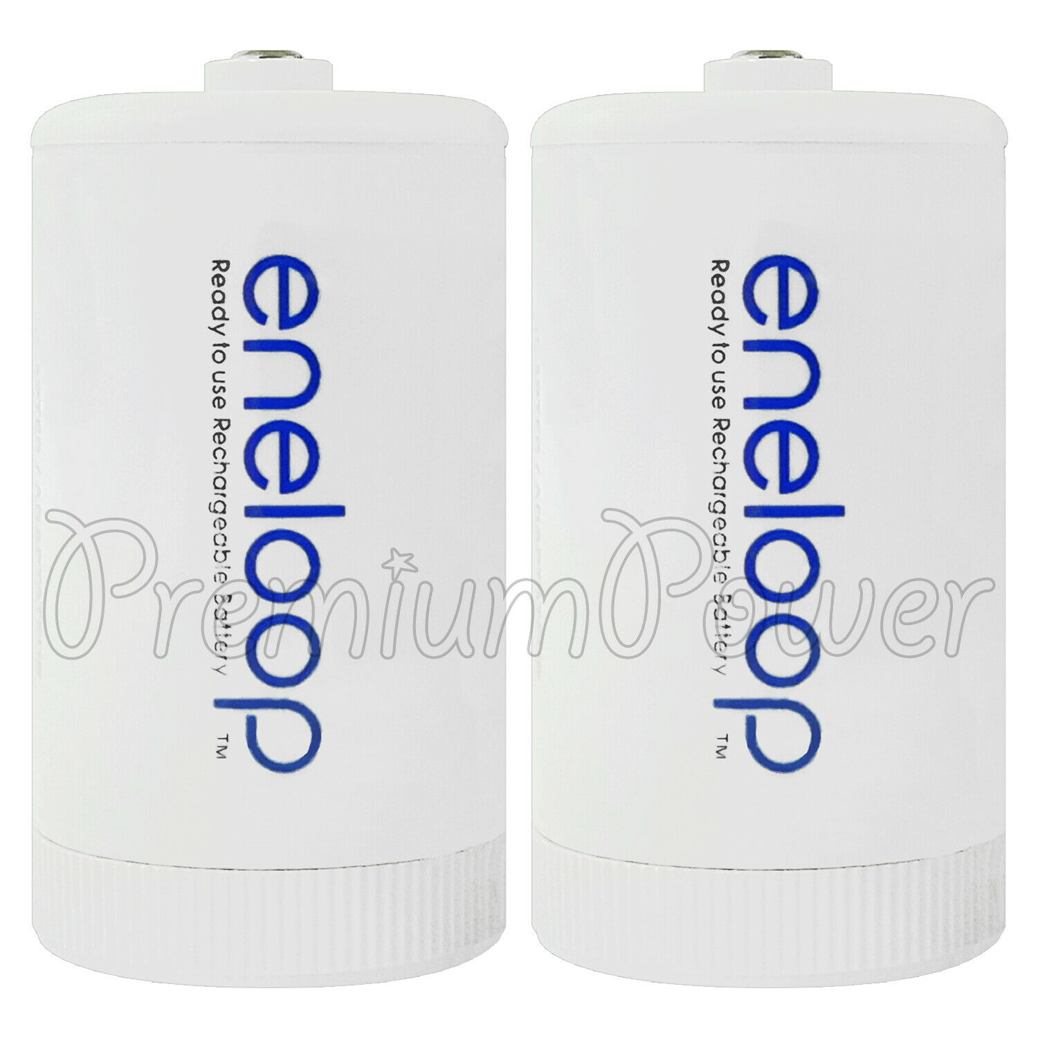2x eneloop size D Adapter Converts AA battery converter spacer