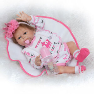 "19"" Girl Lifelike Reborn Baby Doll Washable Full Body Silicone Vinyl Dolls Gift"
