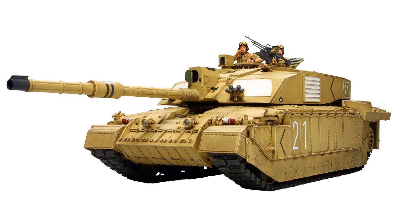 Tamiya1 35british Carro Armato di Battaglia Principale Challenger2 Iraq Gamma