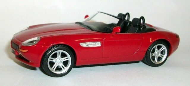 Atlas 1/43 Scale Die-cast metal model - BMW Z8 Roadster red
