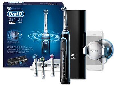 Braun Oral-B Genius 9000 Black Elektrische Zahnbürste + Handyhalterung Bluetooth
