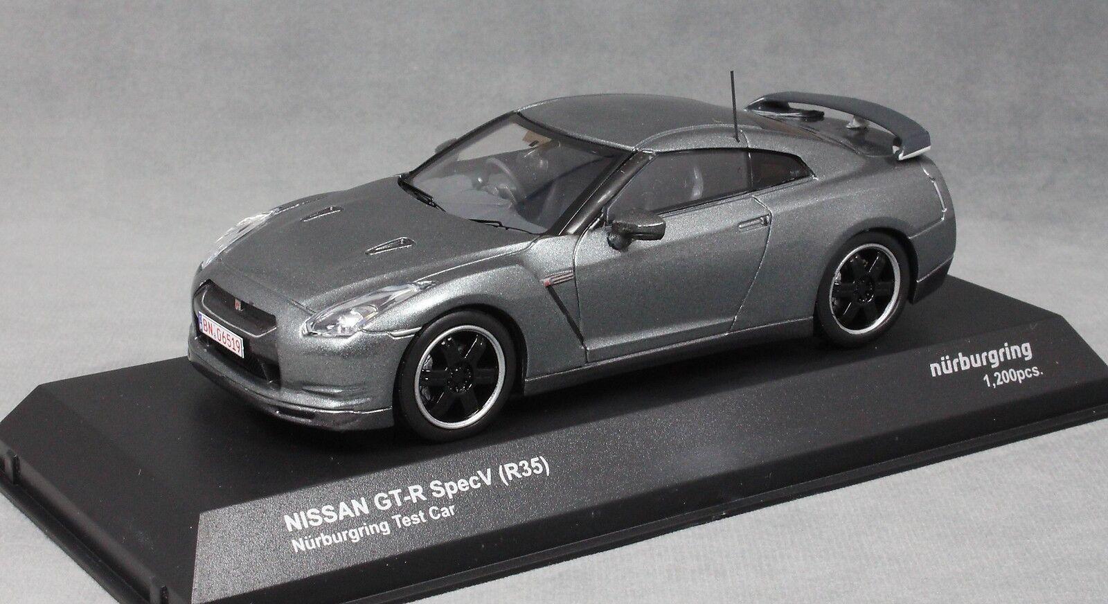 Kyosho Nissan Gt-r Spec V R35 Nurburgring Nurburgring Nurburgring Prueba Coche en gris Metálico 03742NU 1 43 66081d