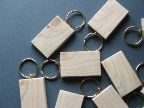 50mmx30mmBLANK KEYRING BLANKS,PYROGRAPHY,ENGRAVING etc.12 FOR £7-99 INC post