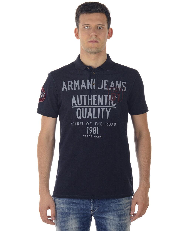Polo  Armani Jeans Aj Shirt Cotone hombres azul SA6M14MG CBB  los clientes primero
