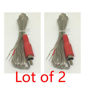 2X-Replacement-repair-Speaker-Bare-Wire-cable-5ft-With-RCA-Plug-to-Stripped-Ends