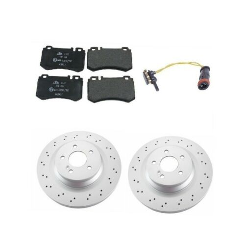 Mercedes W211 CLS55 AMG E55 AMG Complete Rear Brake Kit Rotors /& Pads Top Value
