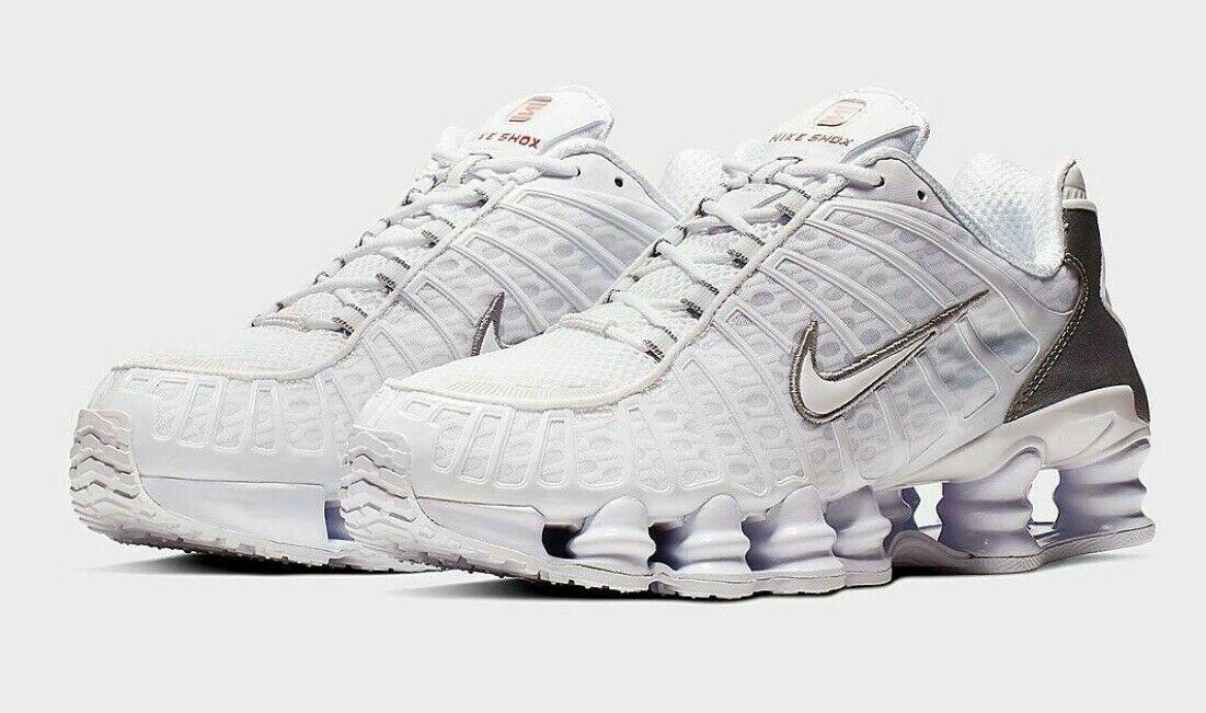 Nike Shox TL Total White Silver Mens