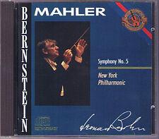 Leonard BERNSTEIN: MAHLER Symphony No.5 New York Philharmonic 1964 CBS CD 86