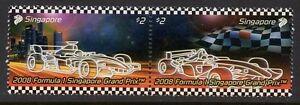 Singapore-stamps-2008-F1-Formula-One-Night-Racing-2v-set-MNH-cars