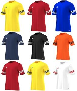 Adidas-Entrada-Mens-Football-Shirts-TShirts-Sports-Gym-Tops-Jerseys-Tee-T-Shirt