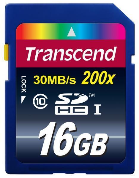 16 GB Transcend carte ultime du Secure Digital Memory CL10 SDHC