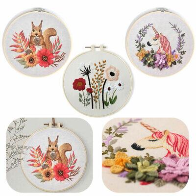 Maysurban Stickerei Set Kreuzstich Starter Kit Vorgezeichnet zum Sticken Stickset zum Selbersticken mit Kleiner Garten 40x70cm