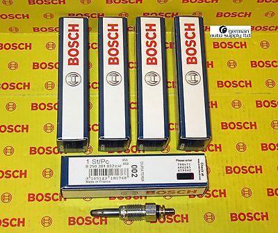 5 x BOSCH Duraterm Glow Plug SET AUDI VOLVO VW 5 Cylinder I5 SOHC Diesel Engine