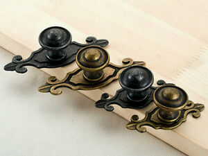 Drawer Knobs Antique Black Silver Bronze Dresser Pull