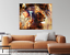 Abstract Painting Lady Lion alone HOME WALL DECOR Framed Canvas choose your size