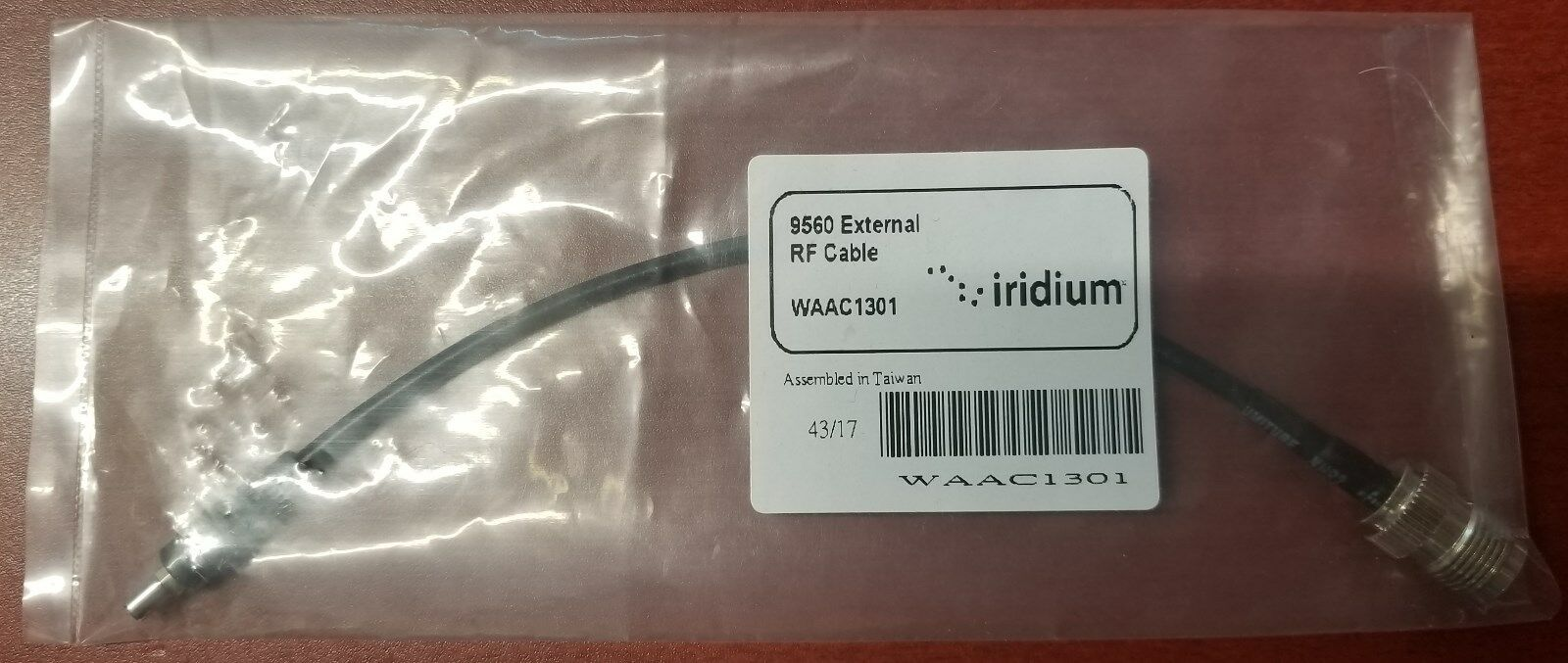 IRIDiUM GO   EXTERNAL RF CABLE   CONNECT TO ANTENNA (AIRPLANE OR MARITIME)