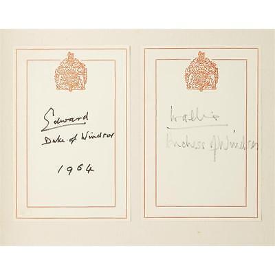 4. (Bindings) 1 Vol. Windsor, Edward, Duke of. Farewell Speech of King Edw... Lot 4