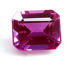 5.90 Ct Natural Pink Emerald Cut Sapphire AGSL Certified Loose Gemstone AAA+