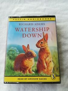 Richard-Adams-Watership-Down-cassette-audiobook-4-tapes-5-5-hours-abridged-Puffi