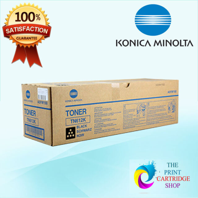 New & Genuine Konica Minolta TN612K A0VW150 Black Toner BizHub Pro C5501 C6500