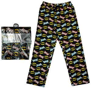 Herren-BATMAN-Logo-Uberall-Bedruckt-Freizeithose-Lang-Pyjamahose-S-M-L-XL