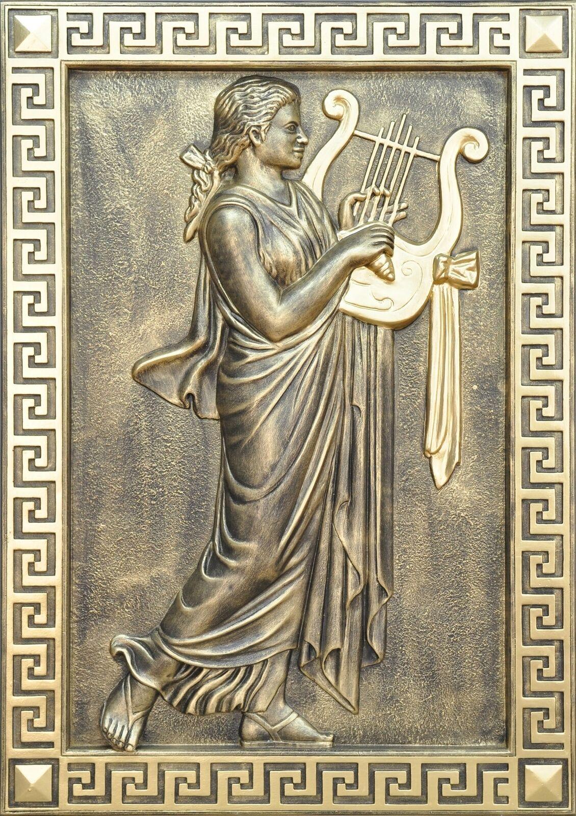 Musique Murale Antique Style Relief Mur Peinture antique à à à la main DIEU image NEUF 6700b9