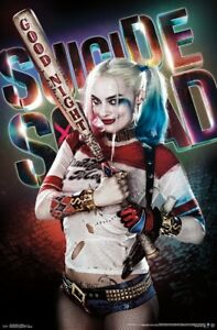 Suicide Squad Good Night Margot Robbie Wall Poster 22x34 FREE S//H