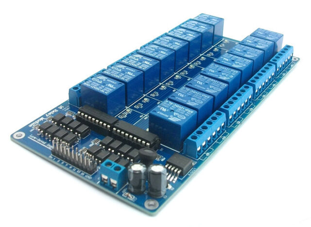 16-Channel 12V Relay Shield Module wiht optocoupler LM2576 Power supply Arduino