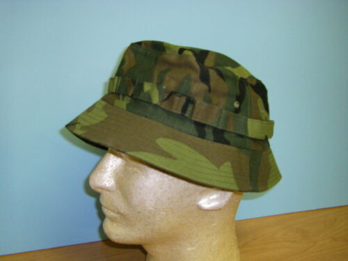 b0254-56  Vietnam era ERDL Camo short brim boonie hat W6C
