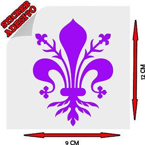 Sticker-Adesivo-Giglio-Firenze-Fiorentina-Viola-Calcio-Sport-Tuning-Auto-Moto