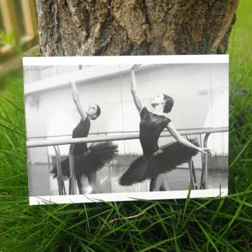 30 un.//box novedad Bailarina de tarjeta de felicitación de la postal Vintage Regalo de Navidad Z