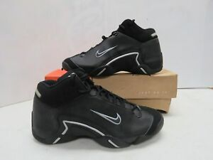 193ec56d8dc7 Details about Rare Nike Air Double Face 3 4 Hi Men Black Silver Sneakers  Shoes Sz 11 W581W
