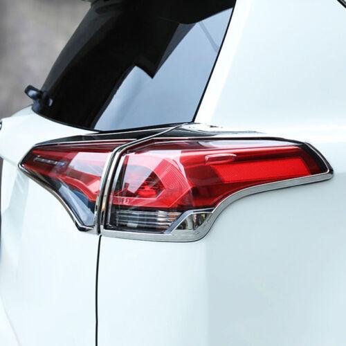 For Toyota RAV4 2016-2018 ABS Chrome Rear Tail Light Lamp Cover Trim Molding