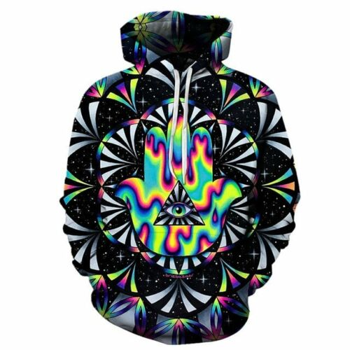Trippy hamsa By Brizbazaar Art 3D Hoodies Men Hoodie Autumn Sweatshirt Unisex