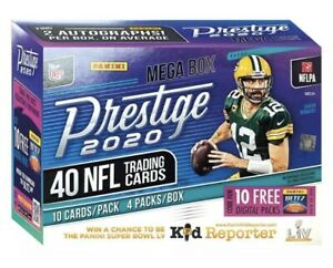 2020-PANINI-PRESTIGE-NFL-FOOTBALL-CARDS-Mega-Box-2-AUTOS-Herbert-Burrow-Tua