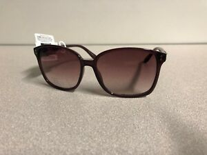 0a371a1efd New ELLE Women s Designer Sunglasses Burgundy Frame Gradient Brown ...