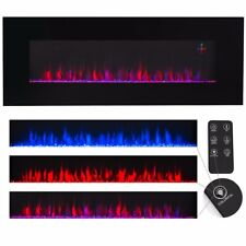 "'Contemporary Electric Fireplace Black 50"" Wall Mount Heater Multicolor flame new' from the web at 'https://i.ebayimg.com/images/g/GGcAAOSwYZ5aFHTl/s-l225.jpg'"