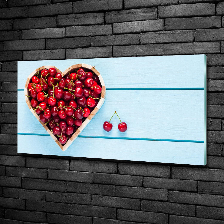 Immagine Parete Vetro Immagine Stampa su vetro 100x50 Decorazione Cibo & Bevande ciliegia cuore