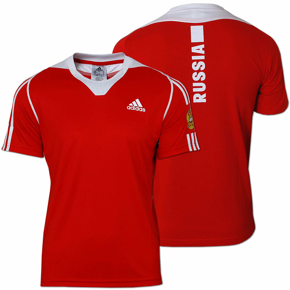 Adidas Herren Team Shirt Russia Funktions Shirt Russland Präsentation Präsentation Präsentation rot-weiß  | Charakteristisch  2ed0b4