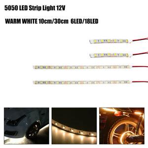 4Pcs-30cm-12-LED-5050-SMD-12V-Strip-Light-White-Flexible-DIY-Car-Tape-Waterproof